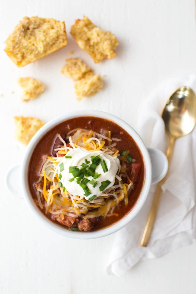 Hearty Turkey Chili is a classic go-to chili recipe made with plenty of fresh flavors and packed with protein! This is a recipe that kids and adults will love.