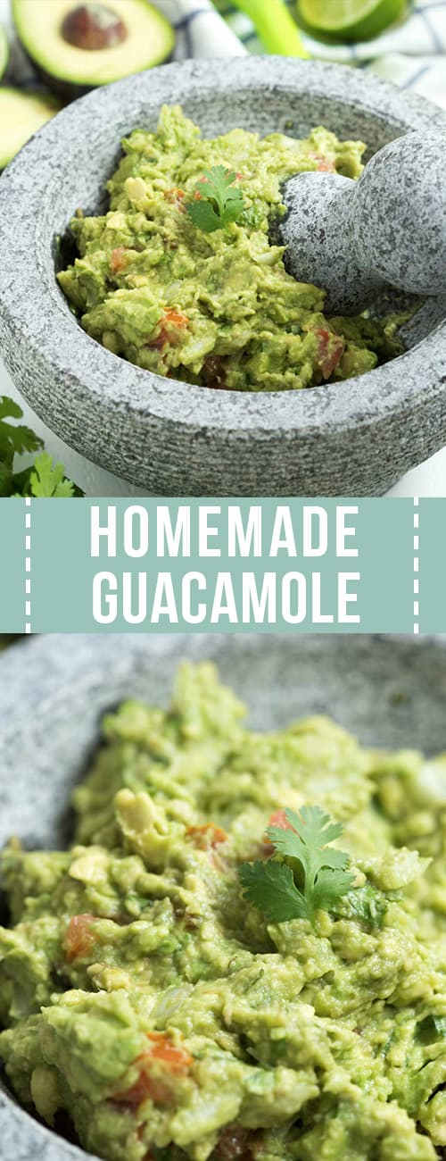 guacamole with cilantro on top in a bowl