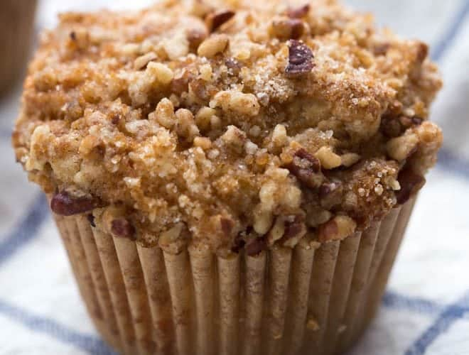 Coffee Cake Muffins are a classic recipe to enjoy all year long. A light and fluffy cake is topped with a warm streusel topping. Bake a batch to share with your friends and family!