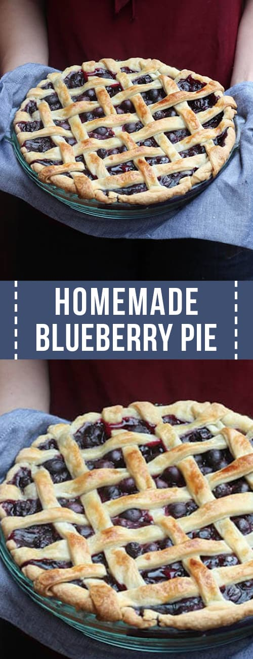 A homemade blueberry pie