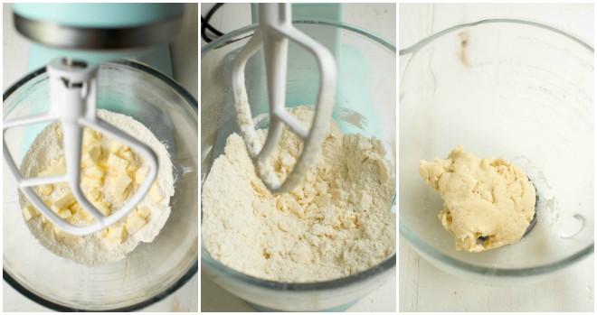 Homemade dough to make this peach galette