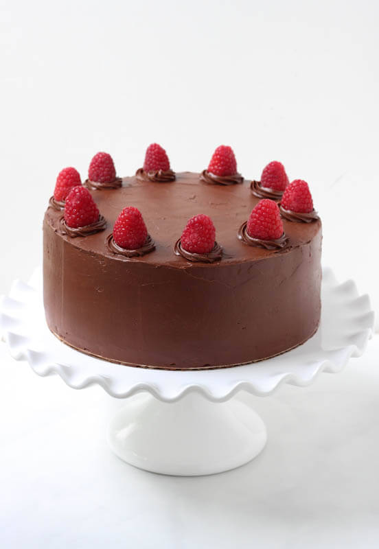 Double Chocolate with Raspberry Buttercream Filling {Spoonful of Flavor}
