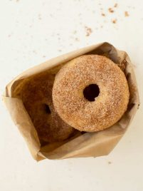 bag of apple cider donuts
