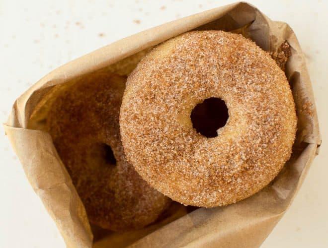 bag of apple cider donuts