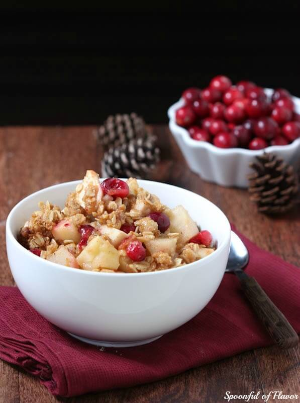 Apple, Pear and Cranberry Crisp - Spoonful of Flavor