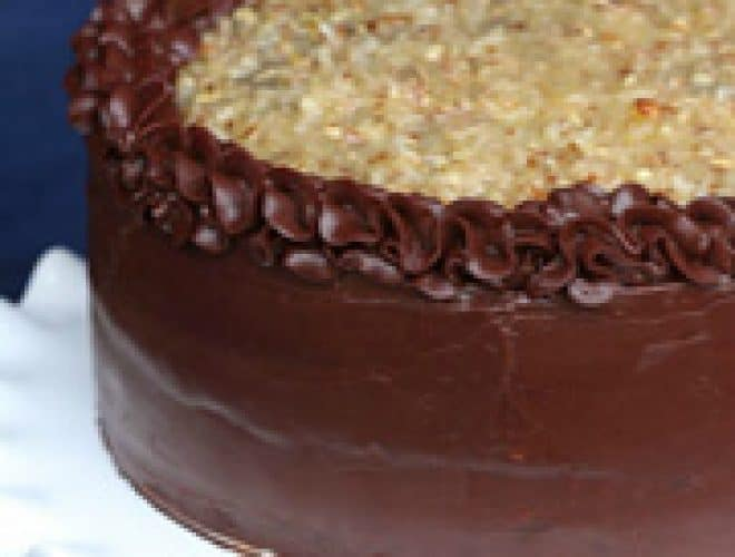 Moist German Chocolate Cake From Scratch