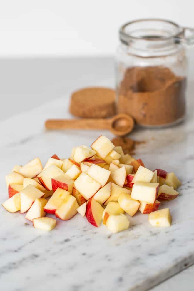 apples and cinnamon for oatmeal