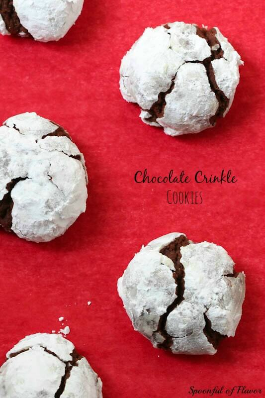 Chocolate Crinkle Cookies - a favorite holiday cookie!