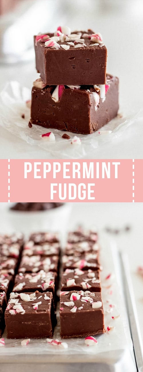 homemade peppermint fudge