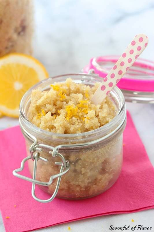DIY Coconut Lemon Sugar Scrub ~ easy to make at home using only a few ingredients!