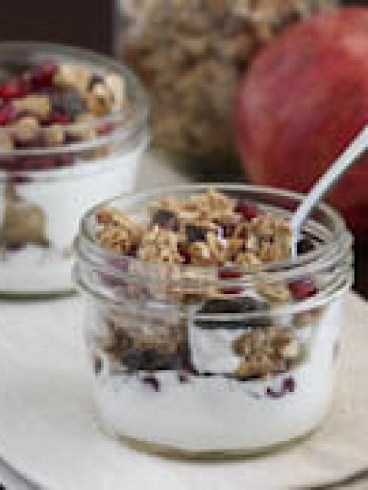 Pomegranate Yogurt Parfait - start your day with this parfait!