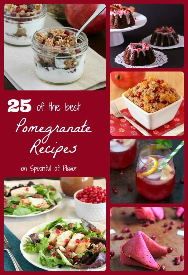 25 of the best Pomegranate Recipes on Spoonful of Flavor