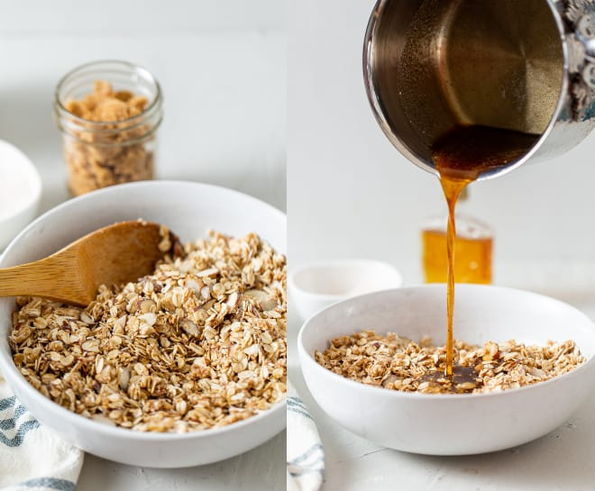 add sweetener to granola