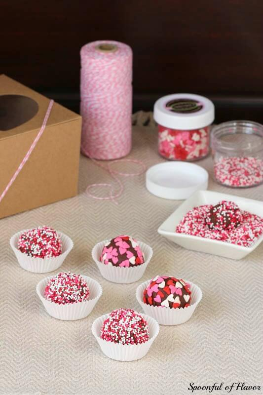 Chocolate Raspberry Truffles ~ incredibly easy, fun and colorful truffles!
