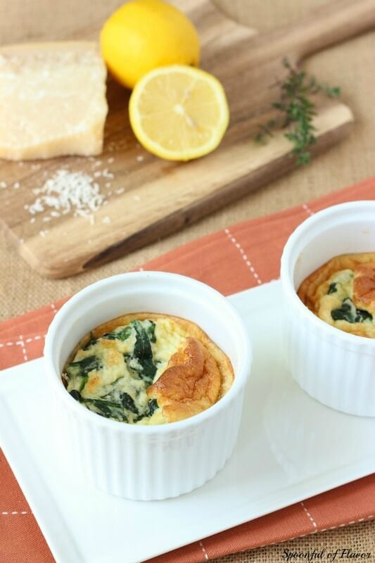 Spinach & Parmesan Egg Souffle