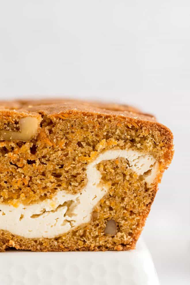 a close up image of the swirl in the loaf