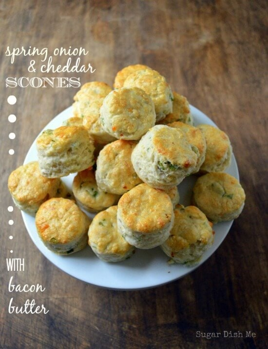 Spring Onion and Cheddar Scones