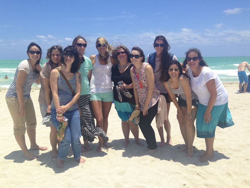 Bloggers at the beach in Miami
