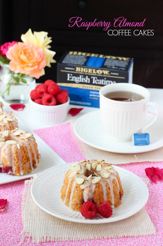 Raspberry Almond Coffee Cakes