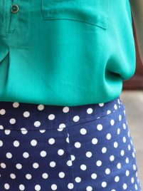 Stitch Fix July 2014 Review on Spoonful of Flavor - 41Hawthorne Natasha Front Pocket Sleeve Blouse!