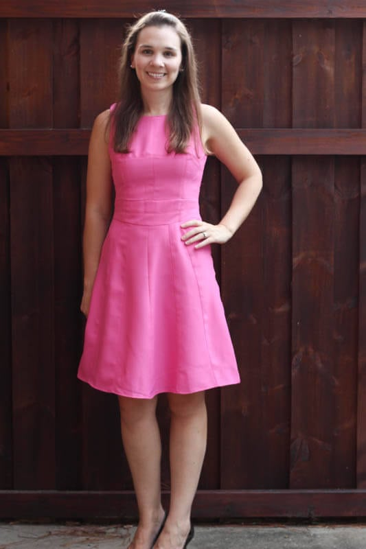 Stitch Fix July 2014 Review on Spoonful of Flavor - Moon Collection Salerno Sleeveless Fit & Flare Dress!