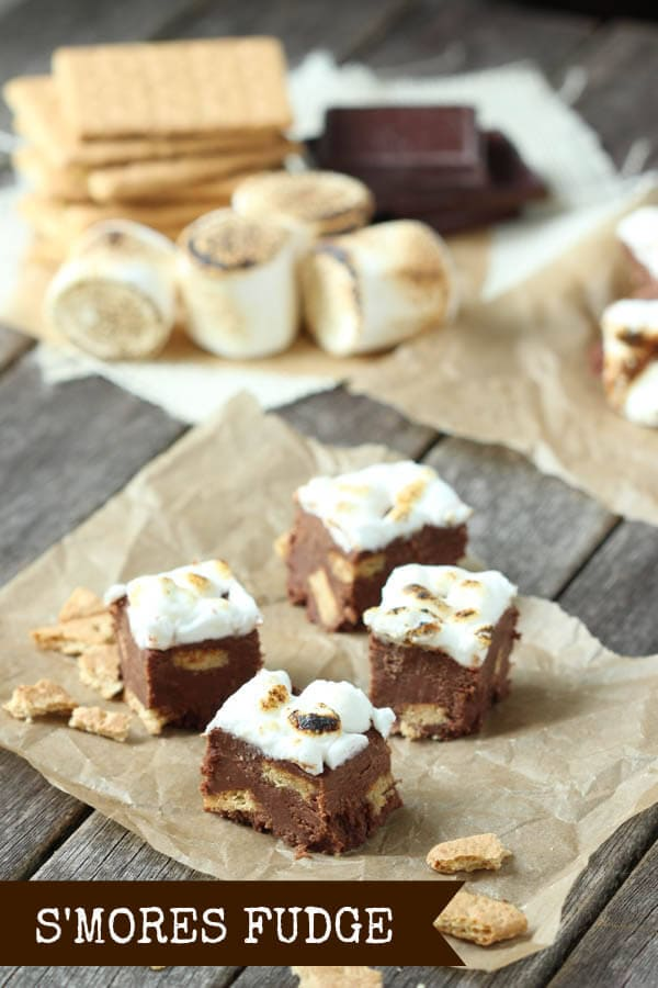 S'mores Fudge - chocolate, graham cracker and toasted marshmallow!