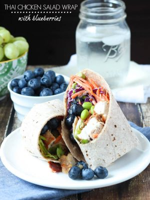 Thai Chicken Salad Wrap
