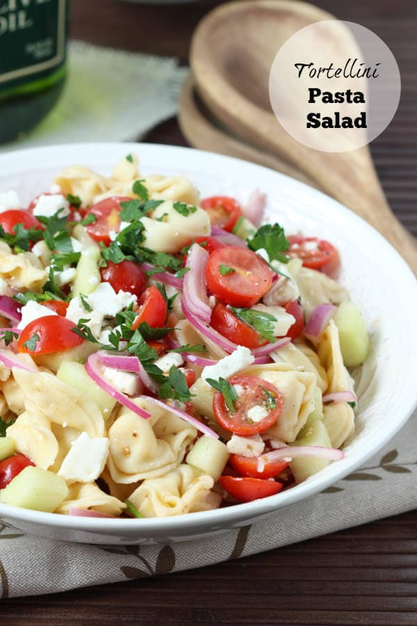 Tortellini Pasta Salad - fresh, easy and the perfect way to use up your garden veggies!