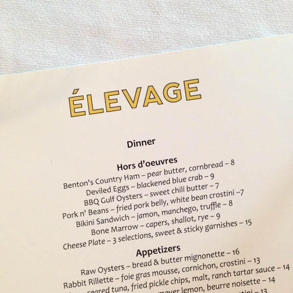 Elevage @ Epicurean Hotel - heaven on earth for foodies