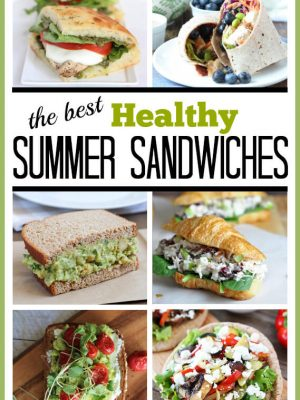 Healthy Summer Sandwiches and Wraps for lunch or dinner! #healthy #summer #sandwiches #chickensalad