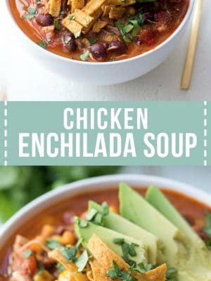 Easy Crockpot Chicken Enchilada Soup