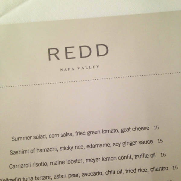 Where to Eat Napa Valley: Redd