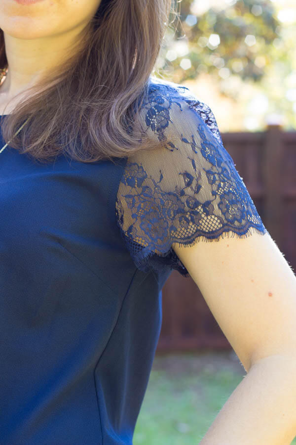 Stitch Fix October 2014 Review - 41Hawthorn McQue Solid Lace Sleeve Blouse