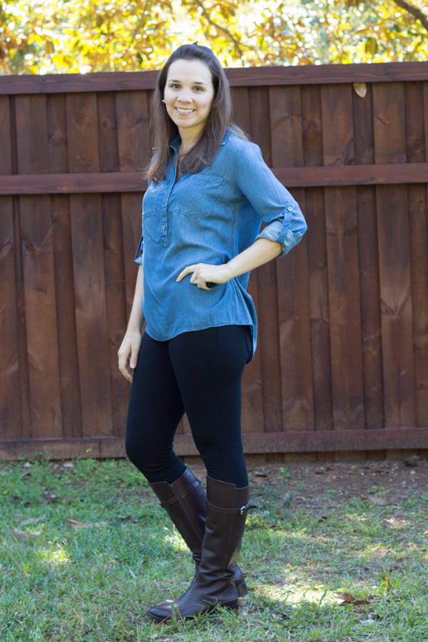 Stitch Fix October 2014 Review - Market and Spruce Dash Button-Front Chambray Shirt