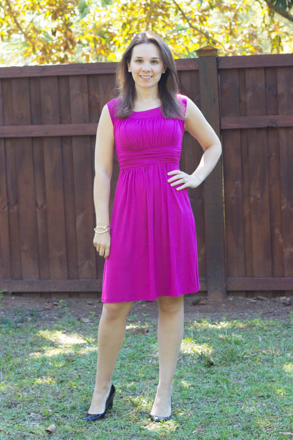 Stitch Fix October 2014 Review - Gilli Kamile Jersey Ruched Detail Dress