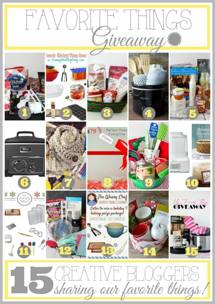 Favorite Things Giveaway with 15 creative bloggers! #giveaway