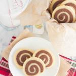 Chocolate and Vanilla Swirl Cookies - impressive cookies that taste delicious!