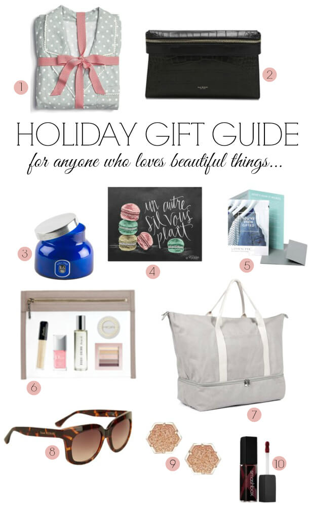 Holiday Gift Guide 2014 - for anyone who loves beautiful things! Including Isaac Mizrahi, Stitch Fix, Lo & Sons, Truffle, and more!