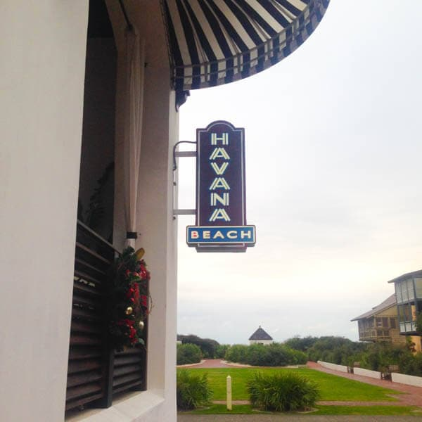 Havana Beach Bar and Grill at The Pearl Hotel in Rosemary Beach, Florida