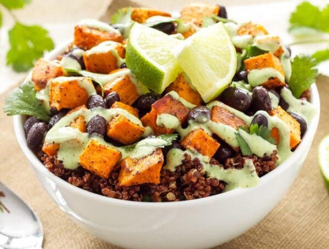 2f7997b3c Sweet Potato and Black Bean Quinoa Bowls - Spoonful of Flavor