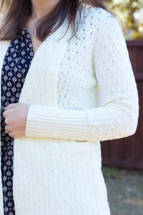 Stitch Fix Review February 2015 featuring Brixon Ivy Lawley Cable Knit Open Cardigan!