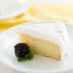 Lemon Cake with White Chocolate Mousse - the perfect cake for two people!