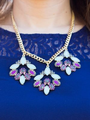 Stitch Fix Review February 2015 including this Romolo Harriot Floral Cluster Necklace!