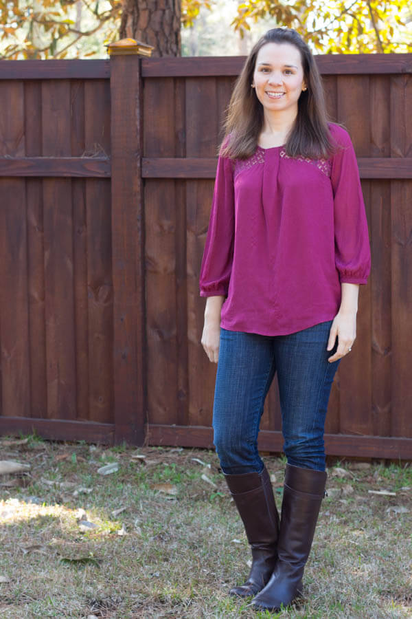 Stitch Fix Review February 2015 including this Skies Are Blue Bernard Crochet Detail Blouse!