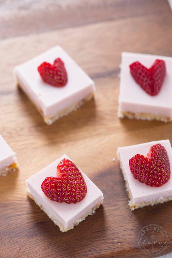 No Bake Strawberry Coconut Cream Bites are the perfect dessert! They are gluten free and vegan too!
