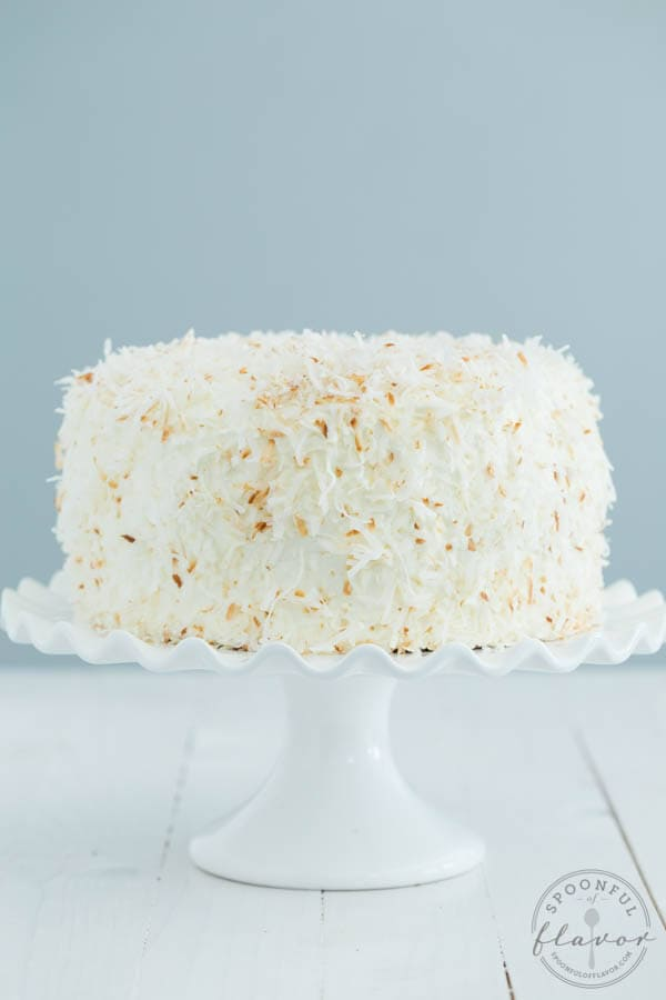 Coconut Sheet Cake With Coconut Cream