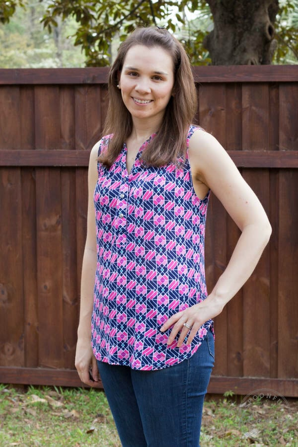 Stitch Fix Review March 2015 featuring Papermoon Ocala Henley Tank!