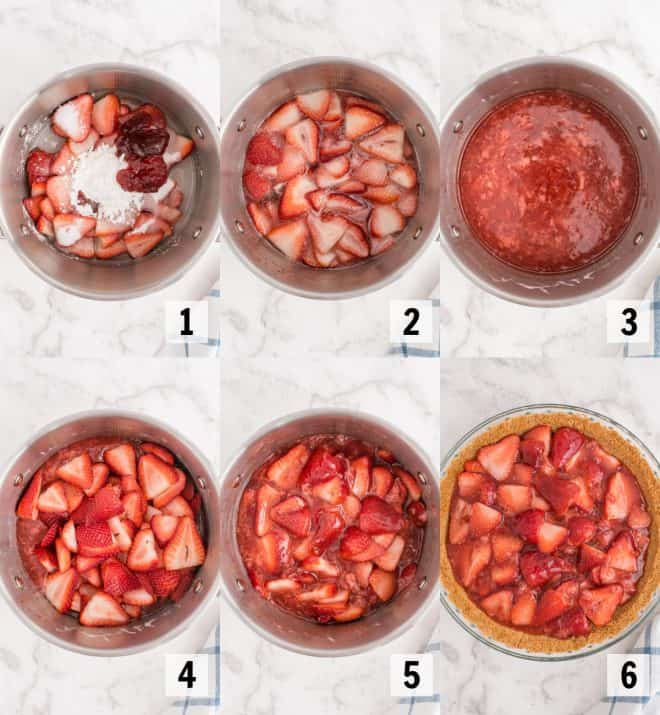 cooking ingredients for strawberry pie filling