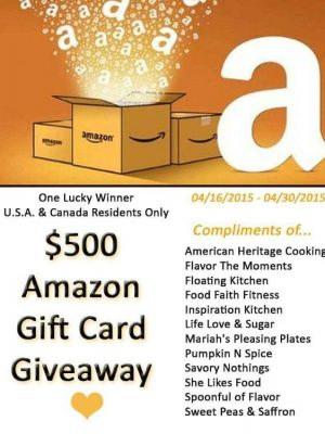 $500 Amazon Gift Card Giveaway