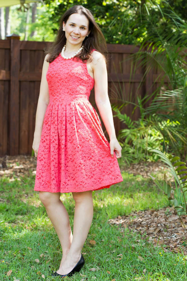 Stitch Fix Review April 2015 featuring BRIXON IVY Nickole Sleeveless Lace Fit & Flare Dress!